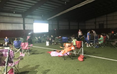Band Boosters host first family movie night