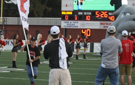Bubba T took his usual role as flag-runner at the Kilgore v. Nacogdoches game.