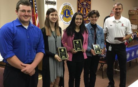 Students of the Month visit Lions Club
