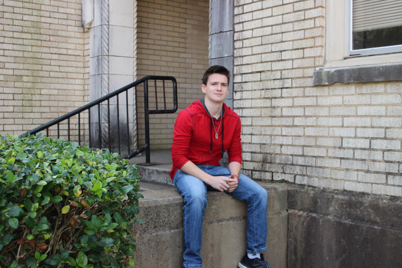Receipient of the 'I Believe' award junior Brandon Mayers.