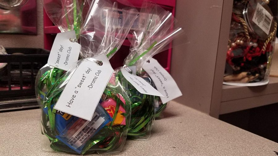 Drama Club treat bags are available in chocolate and non-chocolate varieties.