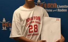 Freshman catches calf at the scramble in Houston