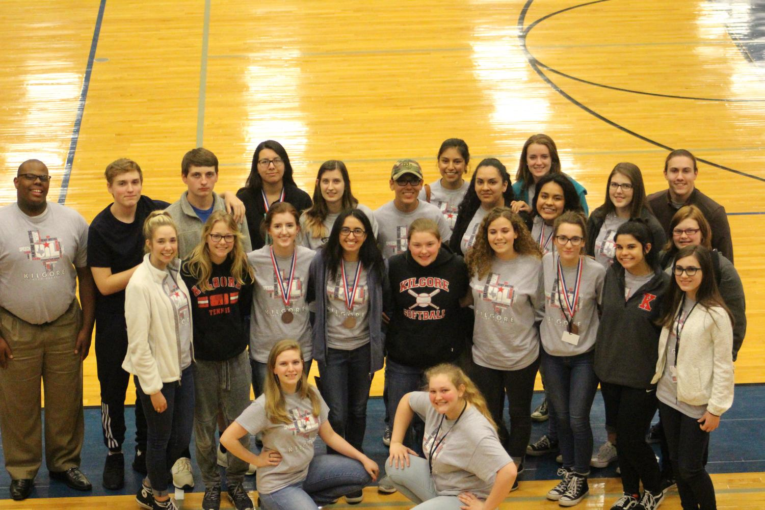 KHS UIL Team Poses After District March 21