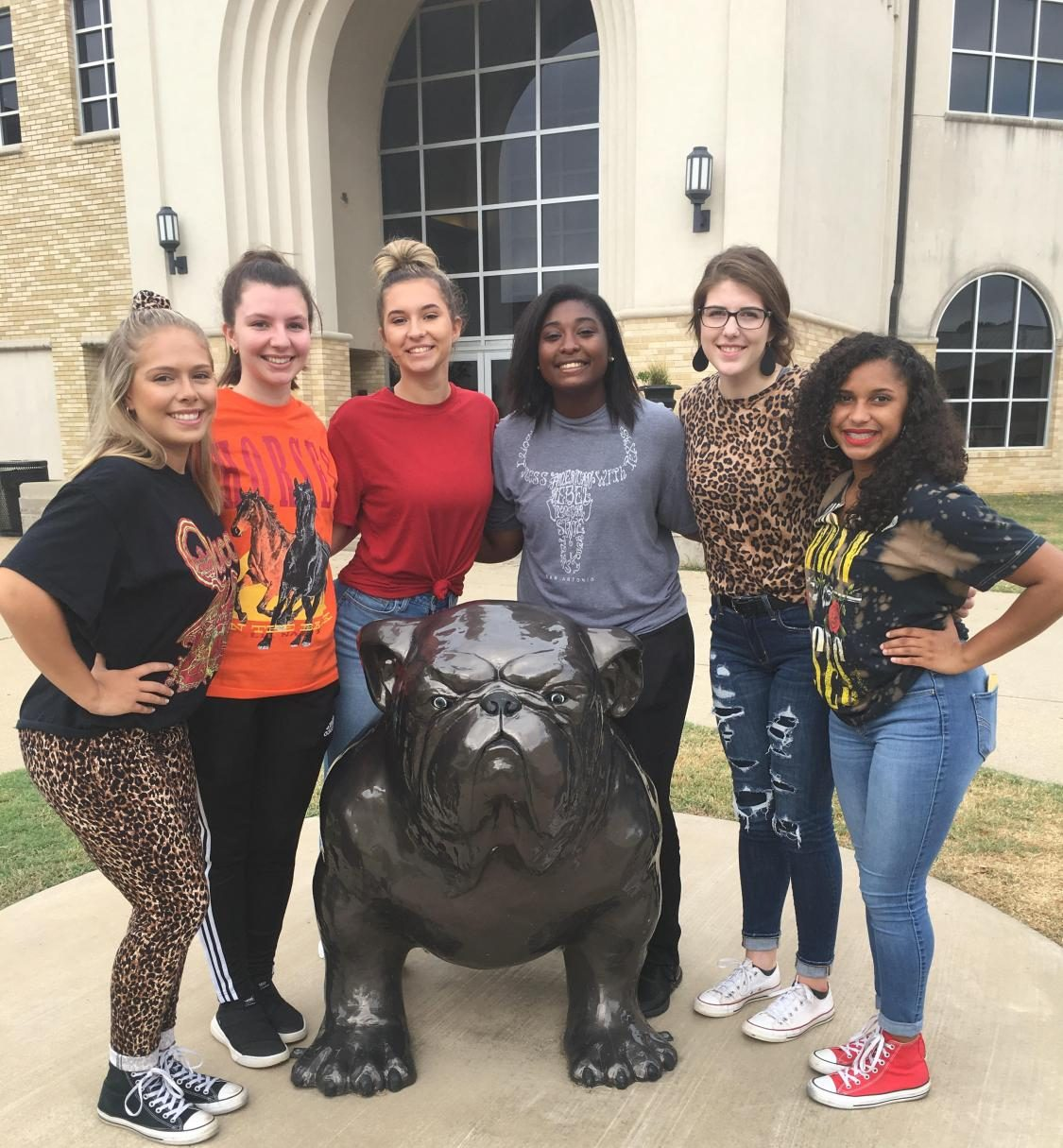 From left to right; Jordan Ware (PASS), Lauren Couch (Yearbook), Julia Greene (Hi-Steppers), Diamond Smith (Softball), Dayton McElyea (FFA), and Olivia Chalk (Sports Medicine).