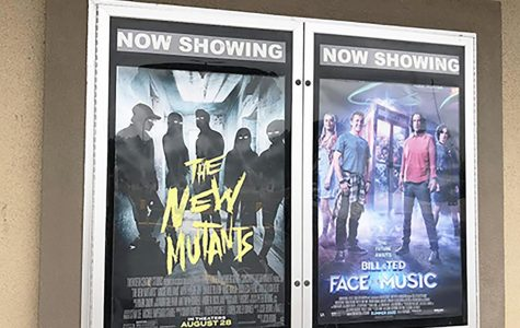 The Kilgore Four Star Cinema displays The New Mutants movie poster.