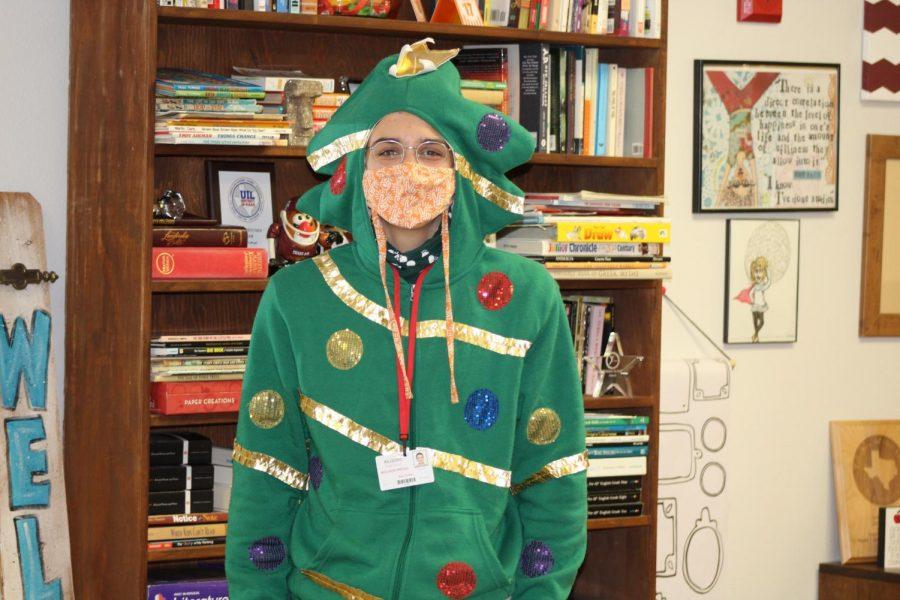 Kai Tucker's TREE sweatshirt won the student council contest.