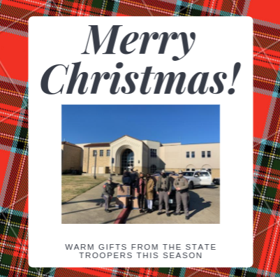Texas State Troopers provide warm gifts this cool season