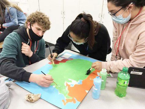 Students prepare to participate in Model UN