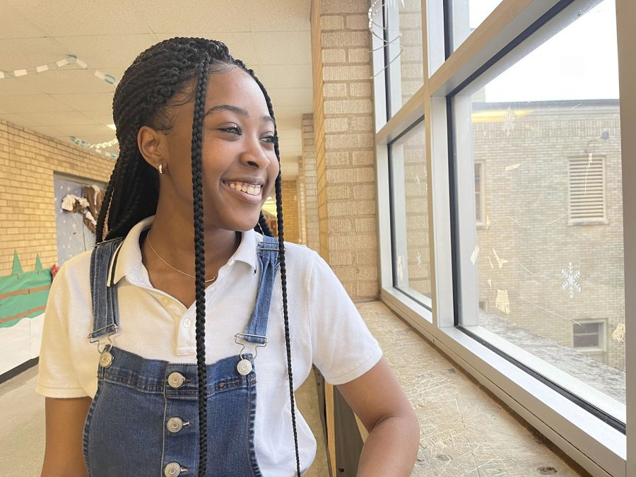 Senior A'viana McIntyre chooses happiness over worry.