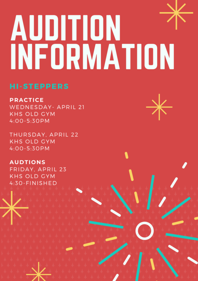 Planning to audition for Hi-Steppers?